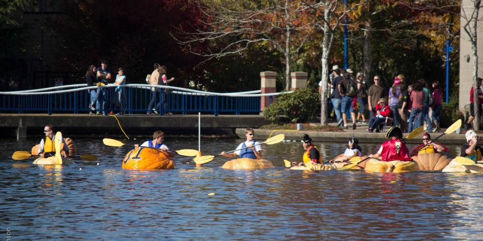 Pumpkin boats Regatta
