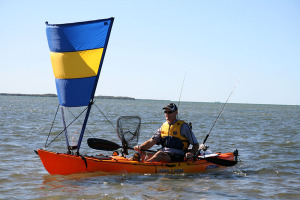 Vela triangolare per kayake canoe pacific action