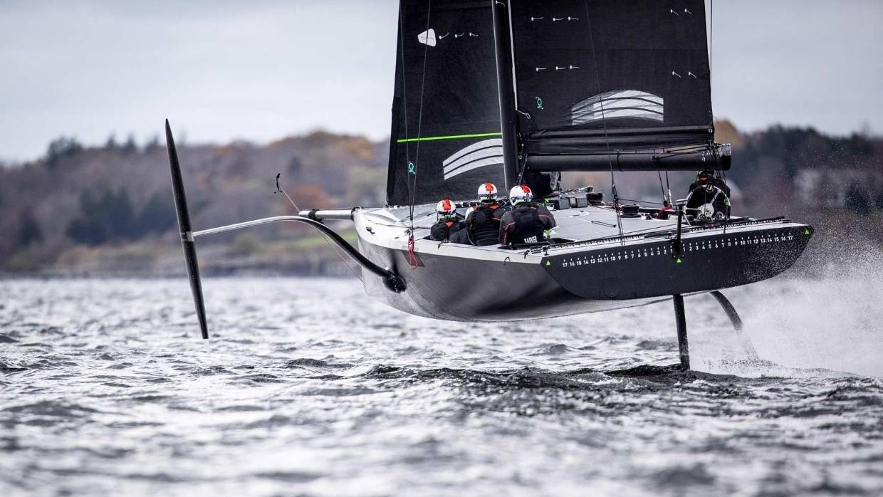 America's cup new boat test 2019